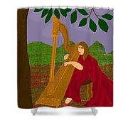 The Harpist Shower Curtain