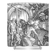 The Harrowing Of Hell Or Christ In Limbo From The Large Passion 1510 Shower Curtain
