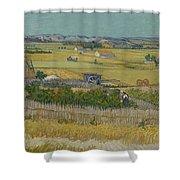 The Harvest Arles  June 1888 Vincent Van Gogh 1853  1890 Shower Curtain