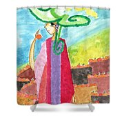 The Harvest Of Oranges Shower Curtain
