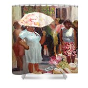 The Hat Lady Shower Curtain