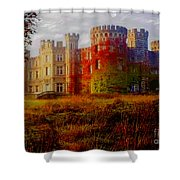 The Haunted Castle Shower Curtain