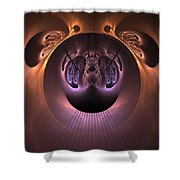 The Haunted Mirror Shower Curtain