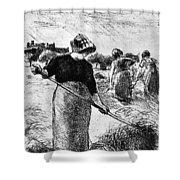 The Hayymaker Camille Pissarro Shower Curtain