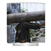 The Headless Man Shower Curtain