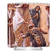 The Healing Of The Leper Shower Curtain