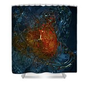 The Heart Of A Glass Blower Shower Curtain
