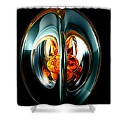 The Heart Of Chaos Abstract Shower Curtain