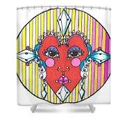 The Heart Queen Shower Curtain