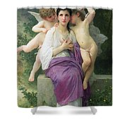 The Hearts Awakening Shower Curtain by William Adolphe Bouguereau