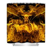 The Heat Of Passion Shower Curtain