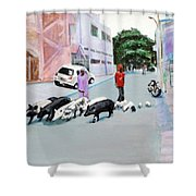 The Herd 5 - Pigs Shower Curtain