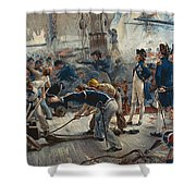 The Hero Of Trafalgar Shower Curtain by William Heysham Overend