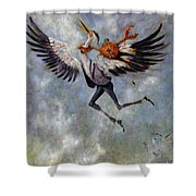 The Heron And The Crab Shower Curtain