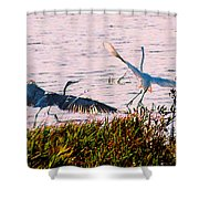 The Heron And The Egret Shower Curtain