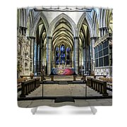 The High Altar In Salisbury Cathedral Shower Curtain