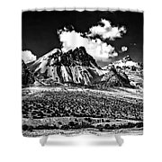 The High Andes Monochrome Shower Curtain