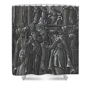 The High Priest Before Pilate [verso] Shower Curtain