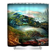 The Highkingdom Of Loch Lein Aka Hesperidean Avalon Shower Curtain