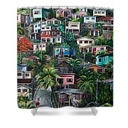 The Hill     Trinidad  Shower Curtain