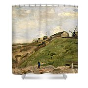 The Hill Of Montmartre With Stone Quarry Shower Curtain