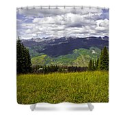 The Hills Are Alive In Vail Shower Curtain
