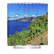 The Hills Of Crater Lake Oregon Shower Curtain