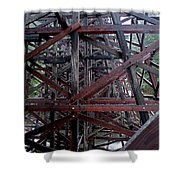 The Historic Kinsol Trestle  Inside View Shower Curtain