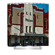 The Historic Texas Theatre Shower Curtain