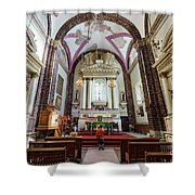 The Historical Church - Iglesia De La Salud Shower Curtain