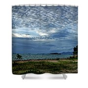 The Hole In The Sky Shower Curtain