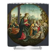 The Holy Family With Angels Shower Curtain