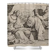 The Holy Family With Saint John The Baptist Shower Curtain