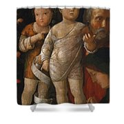 The Holy Family With St John Shower Curtain