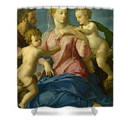 The Holy Family With The Infant Saint John The Baptist, Madonna Stroganoff  Shower Curtain