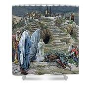 The Holy Women Stand Far Off Beholding What Is Done Shower Curtain