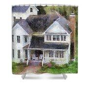The Homes Of Mackinac Island Michigan 02 Pa Shower Curtain