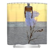 The Homesickness Shower Curtain