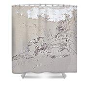 The Honeymoon Shower Curtain