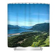 The Hood River  Shower Curtain