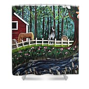 The Horse Farm Shower Curtain