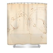The Horse Of Selene From The Elgin Marbles [recto] Shower Curtain