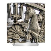 The Horse On The Bridge Shower Curtain