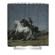 The Horse Thieves Shower Curtain