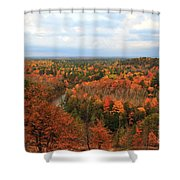 The Horseshoe Bend Of The High Rollaways Shower Curtain