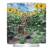 The Horticulturist Shower Curtain