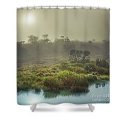 The Horton Plains. Sunrise Shower Curtain
