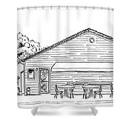 The Hot Dog Factory Shower Curtain