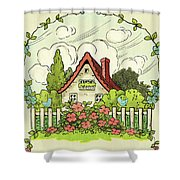 The House At The End Of Storybook Lane Shower Curtain