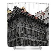 The House At The Minute Shower Curtain